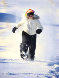 Snowshoeing in Winter Stock Image