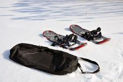 Snowshoening Lizenzfreie Stockfotos
