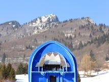 Snowshoes одной сини в горах в зиме Стоковая Фотография RF
