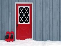 Snowshoes al portello Immagine Stock Libera da Diritti