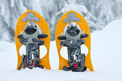 Snowshoes close up Stock Photography