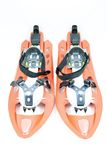 Snowshoes. A pair of snowshoes on a white background Royalty Free Stock Images