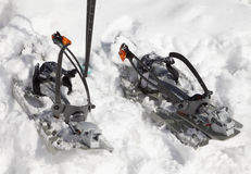 Snowshoes in the snow Stock Images
