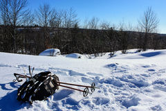 Snowshoes on the Snow Royalty Free Stock Photo