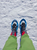 Snowshoes for walking on snow. Royalty Free Stock Photo