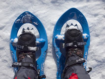 Snowshoes for walking on snow. Snowshoes for walking on soft snow in the mountains royalty free stock images
