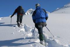 snowshoetur Fotografering för Bildbyråer