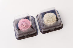 Snowskin Mooncake Packaging. Snowskin Mooncake normally served during mid autumn festival based on Lunar Calendar. This is alternative for single product Stock Photography