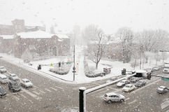 Snowstorm 17 Απριλίου Ντένβερ Στοκ Φωτογραφία