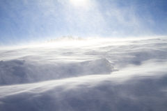 Snowstorm. A landscape of mountain snowstorm Royalty Free Stock Images