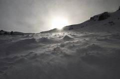 snowstorm Arkivbild