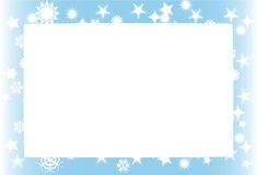 Snowstorm background frame Royalty Free Stock Photo