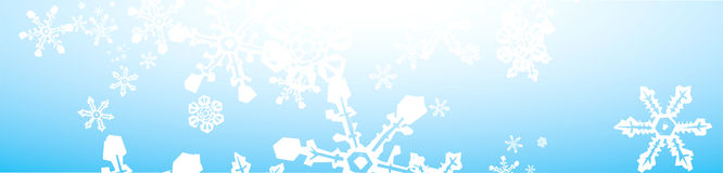 Snowstorm Banner Royalty Free Stock Image