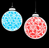 Snowstorm Christmas Ornaments #2 Stock Image