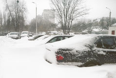 After snowstorm in the city. Royalty Free Stock Photos