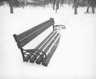 After snowstorm in the city park. Stock Images