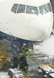 Snowstorm at Heathrow airport Royalty Free Stock Image
