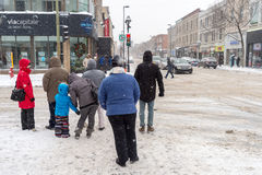 Free Snowstorm In Montreal. Stock Photo - 83100850