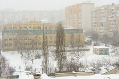 Free Snowstorm In The City Stock Photos - 46142943