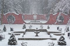 Snowstorm In The Park. Royalty Free Stock Photography