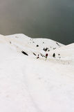 Snowstorm. In the mountains (Alps royalty free stock photography