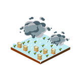 Snowstorm Natural Disaster Icon. Vector Illustration Royalty Free Stock Image