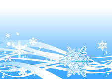 Snowstorm ornament. Blue Christmas background, vector illustration Royalty Free Stock Image
