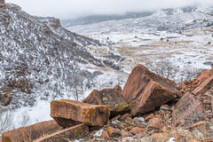 Snowstorm over Colorado foothills Royalty Free Stock Photo