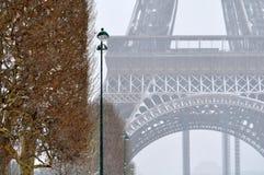 Snowstorm in Paris Royalty Free Stock Photos