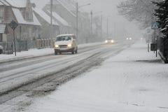 Snowstorm. Stock Photo