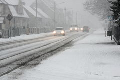 Snowstorm. Royalty Free Stock Images