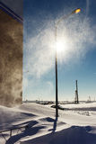 Snowstorm in the sunlight Royalty Free Stock Photography
