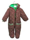 Snowsuit dla dziecka na wieszaku na białym tle Obraz Royalty Free