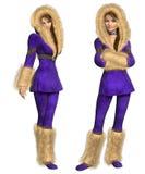 Snowsuit Lady Stock Image