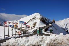 Snowtime in Oostenrijk Stock Foto