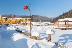 Snowtownen Arkivbild