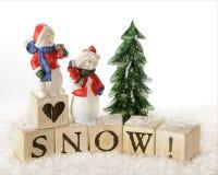 Snowvänner Arkivfoto