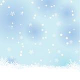 Snowvinterbakgrund royaltyfri illustrationer