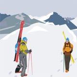 Snowwalk Imagenes de archivo
