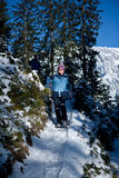 Snowwalking Image stock
