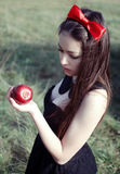 Snowwhite from fairy tales Stock Images