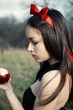 Snowwhite from fairy tales Royalty Free Stock Photo