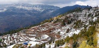 Snowwhite mountain royalty free stock photo