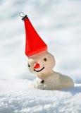 Snowwman leksak Fotografering för Bildbyråer