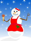 Snowwoman Royalty Free Stock Photos