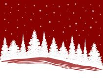SnowXmasTrees. A row of Christmas Trees in the Snow vector illustration