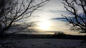 Snowy Нортумберленд стоковое фото rf