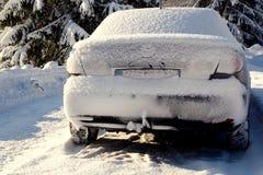 Snowy покрытый корабль Стоковые Фото