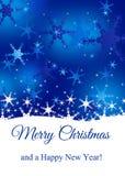 Snowy с Рождеством Христовым Стоковая Фотография