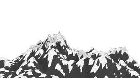 Иллюстрация горы Snowy Стоковые Изображения